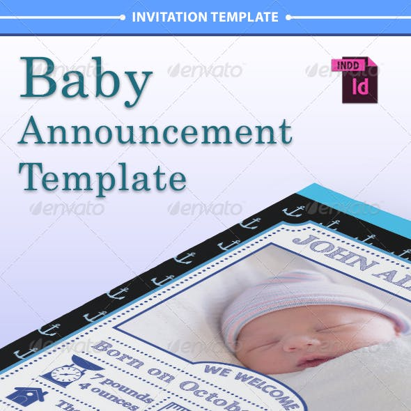 Baby Announcement Template - Vol.2