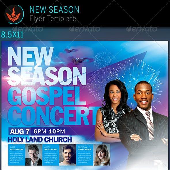 New Season Church Flyer Template