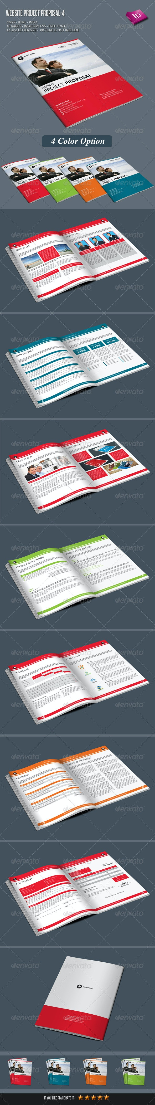 Website Project Proposal-4 - Proposals & Invoices Stationery