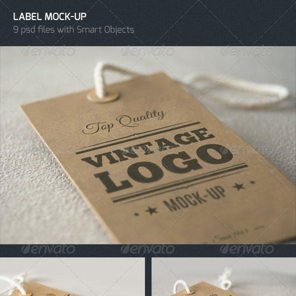 Vintage Label - Logo Mock Up
