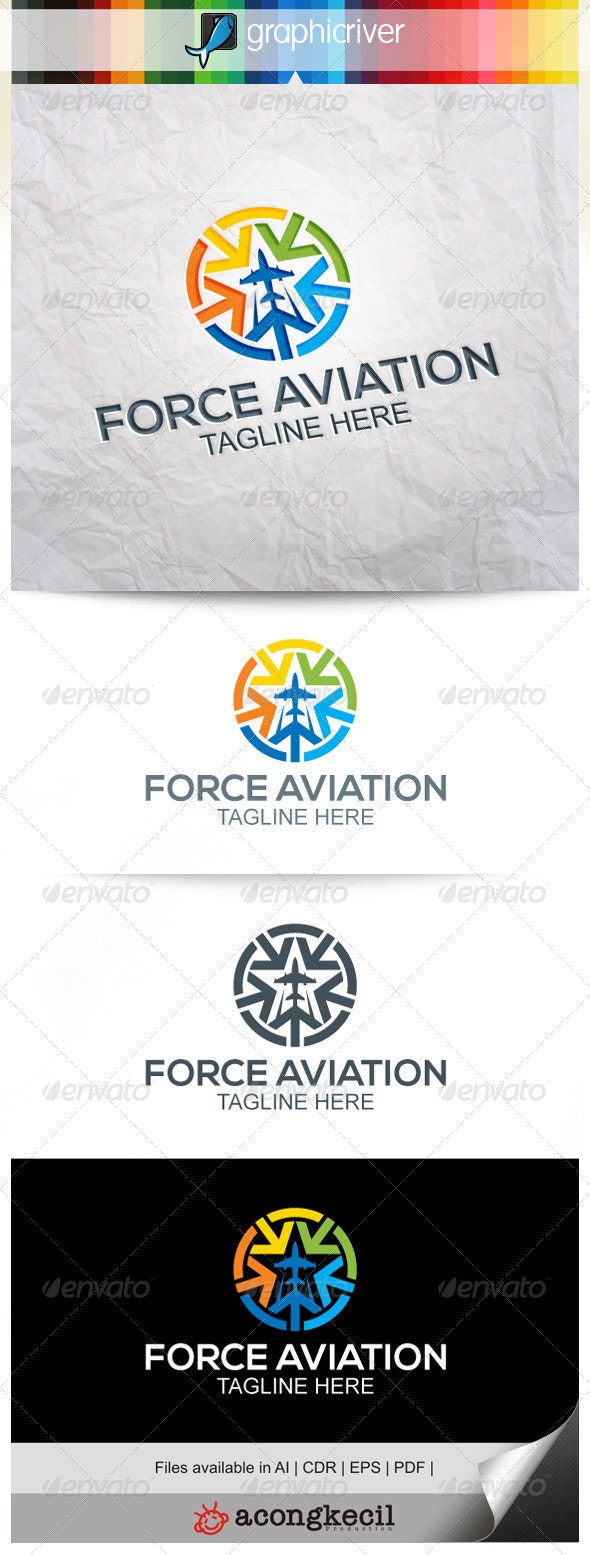 Force Aviation V.3 - Symbols Logo Templates