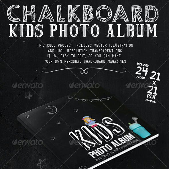 Kids Chalkboard Photo Album