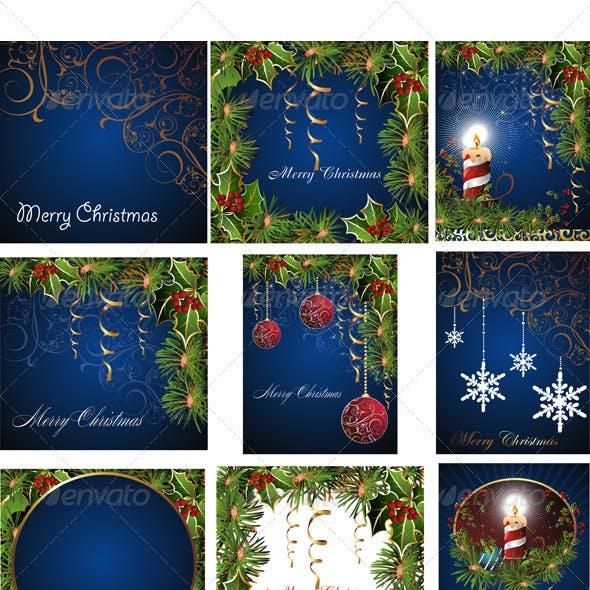 Set of Christmas Cards.