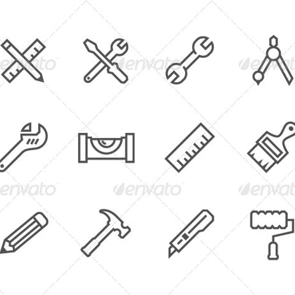 Outline Tools Icons