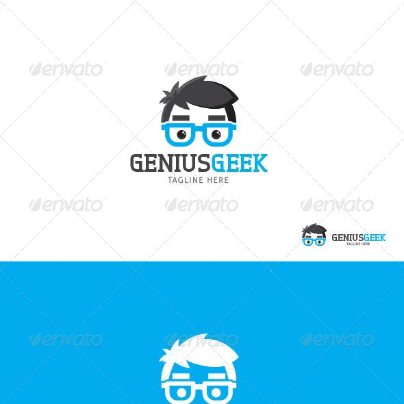 Genius Geek logo Template