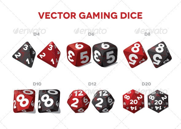 Vector Gaming Dice - Man-made Objects Objects