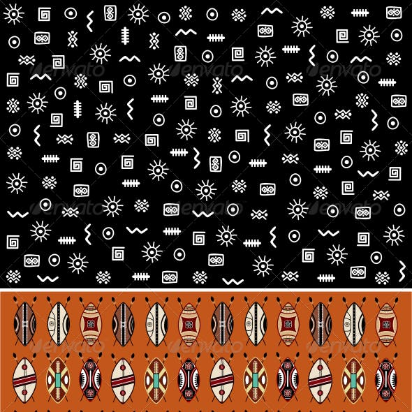 10 African Backgrounds Set