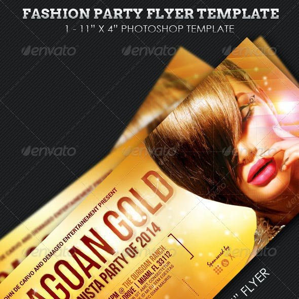 Fashion Party Event Flyer Template