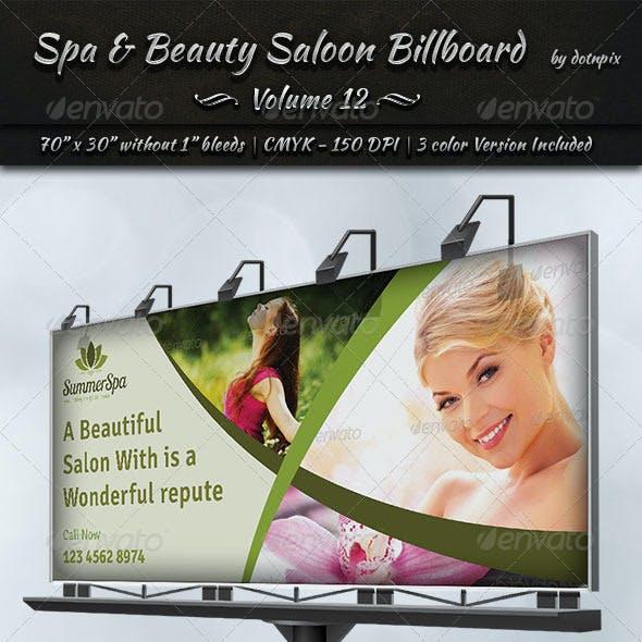 Spa & Beauty Saloon Billboard   Volume 12