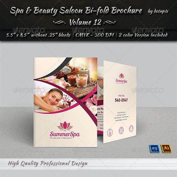 Spa & Beauty Saloon Bi-fold Brochure   Volume 12