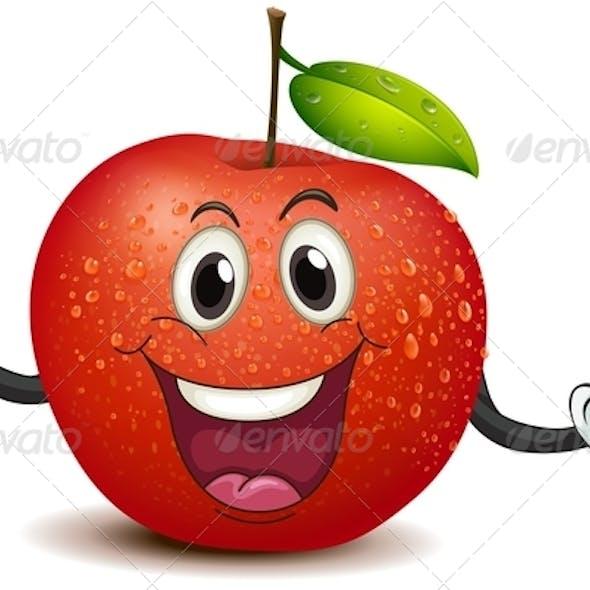 Smiling Crunchy Apple