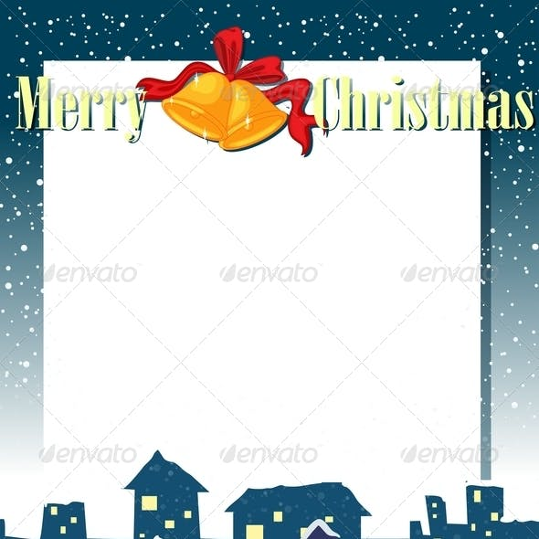 Empty Christmas Card Template