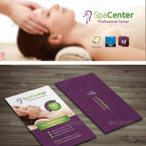 Spa House Business Card Templates