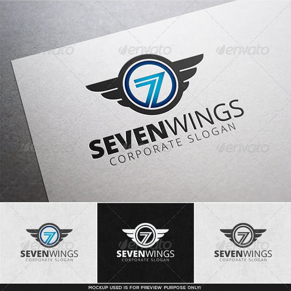 Seven Wings Logo Template