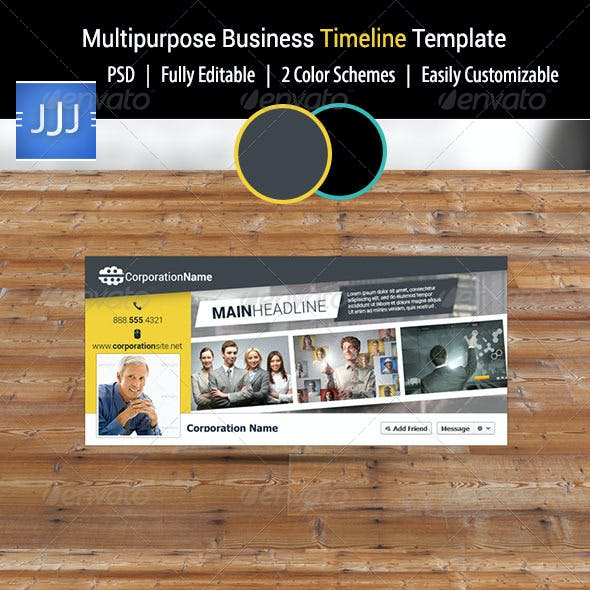 Multipurpose Business Facebook Timeline 12