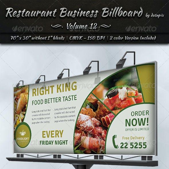 Restaurant Business Billboard | Volume 12