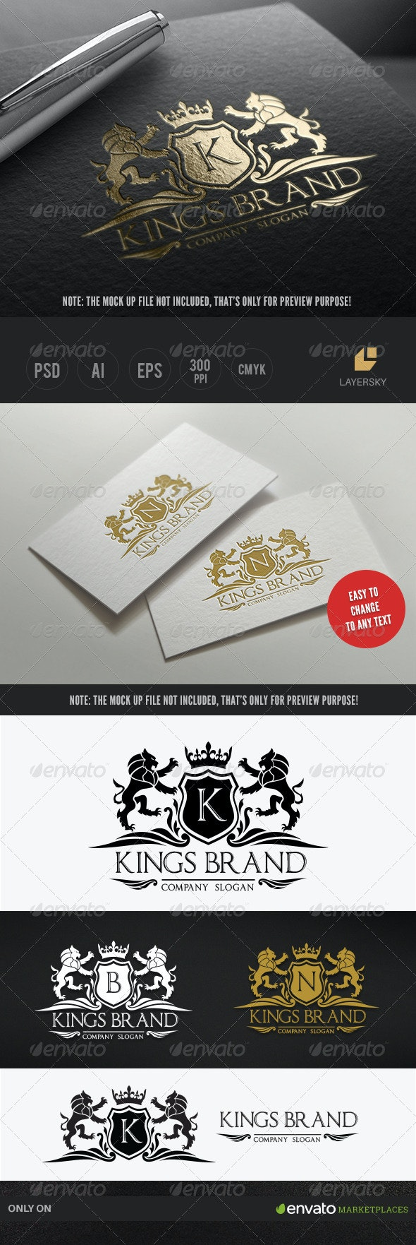 Kings Brand - Crests Logo Templates