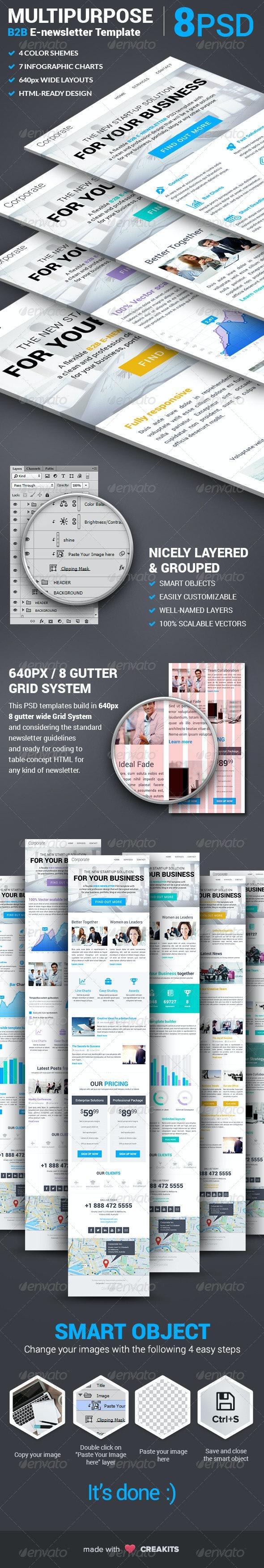 Corporate - Multipurpose B2B E-newsletter Template - E-newsletters Web Elements