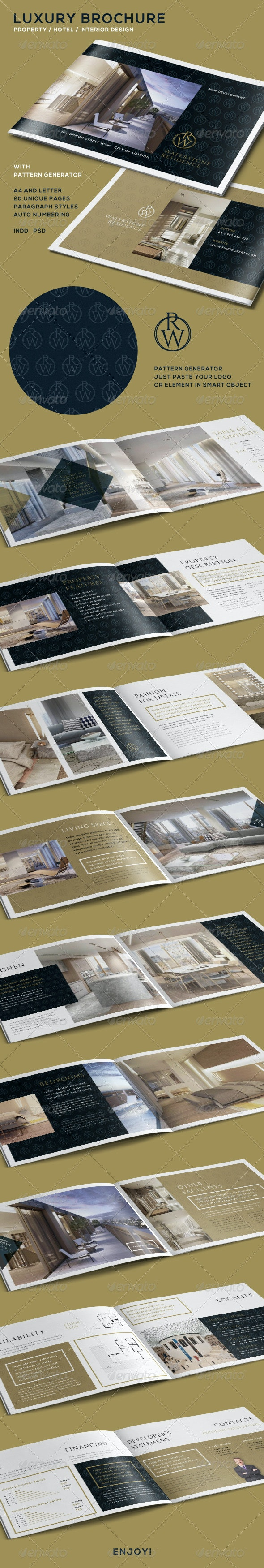 Luxury Brochure for Property - Hotel - Interior - Catalogs Brochures