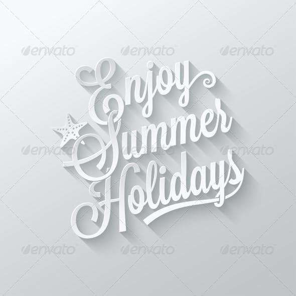 summer Holidays Cut Paper Background