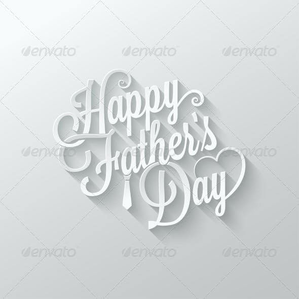 Fathers Day Cut Paper Lettering