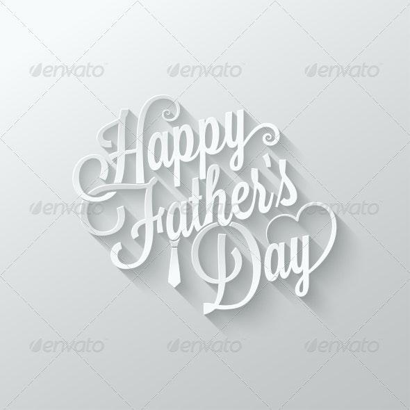 Fathers Day Cut Paper Lettering - Miscellaneous Seasons/Holidays