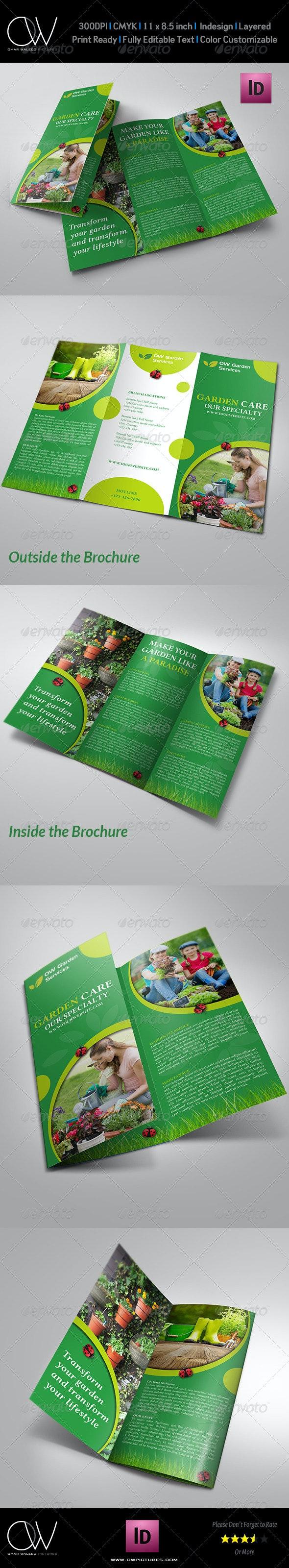 Garden Services Tri-Fold Brochure Template - Corporate Brochures
