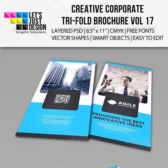 Creative Corporate Tri-Fold Brochure Vol 17