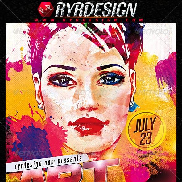 Art Gallery Event PSD Flyer