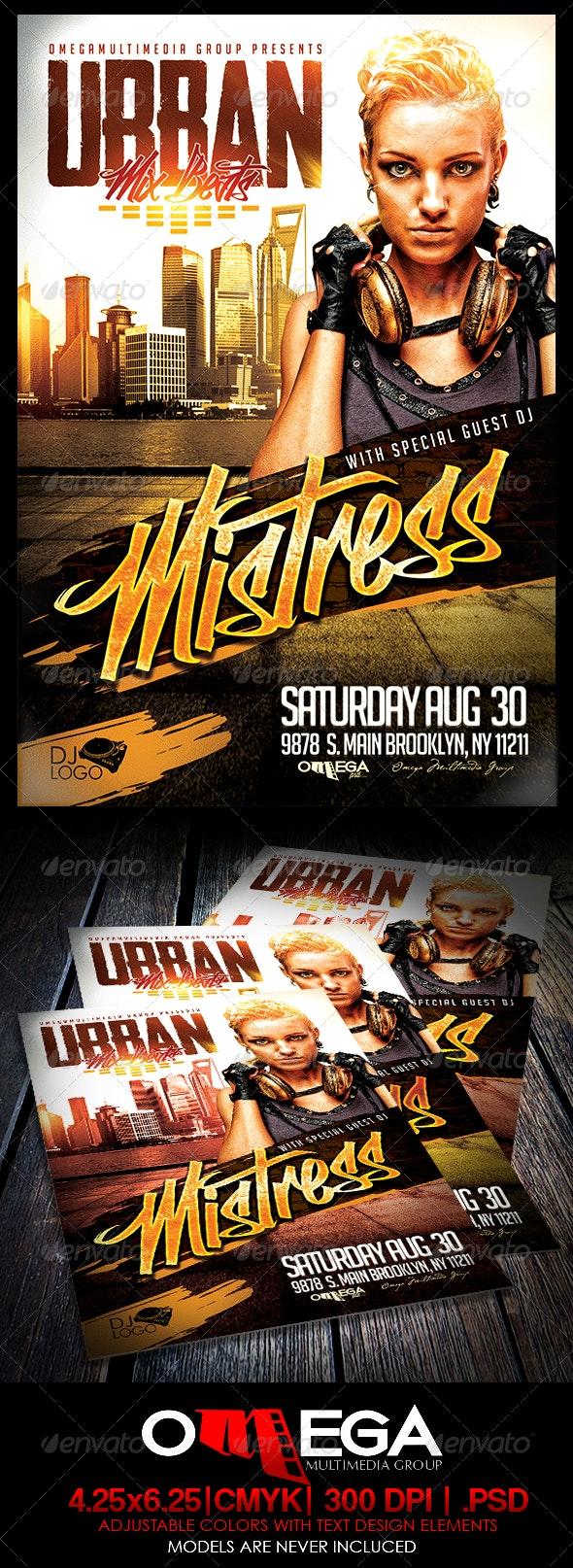 Urban Mixed Beats - Events Flyers