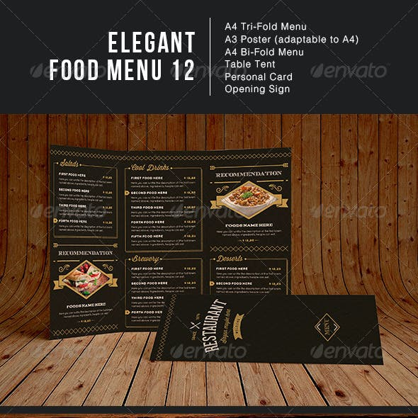 Elegant Food Menu 12