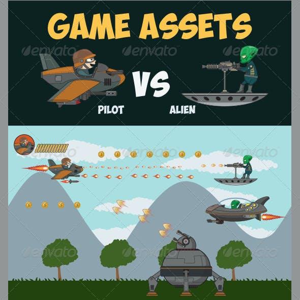 Game Asset - Pilot Vs Alien