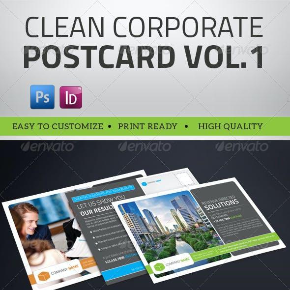 Multipurpose Clean Corporate Postcard Vol1