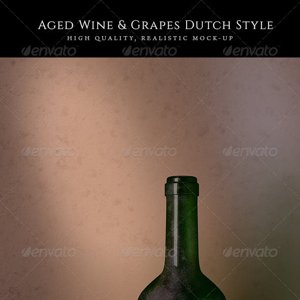 Aged Wine Mock-Up Dutch Style
