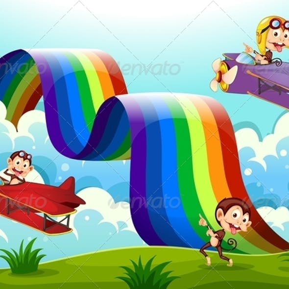 Monkeys, Planes and a Rainbow