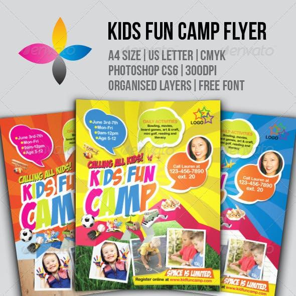 Kids Fun Camp Flyer