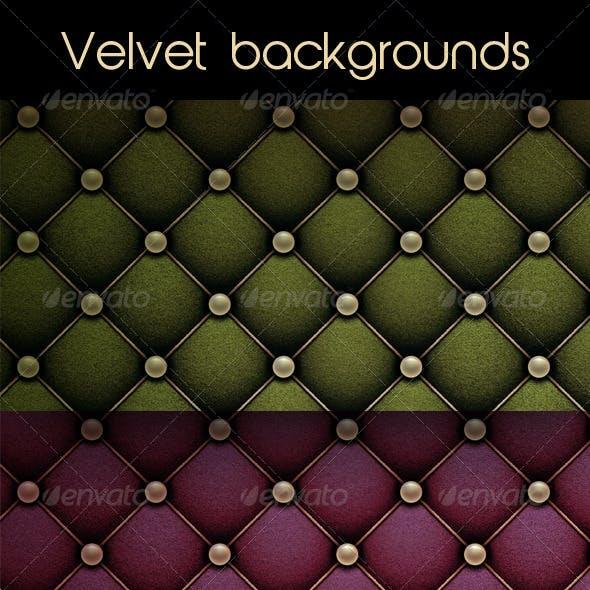Set of Velvet Backgrounds