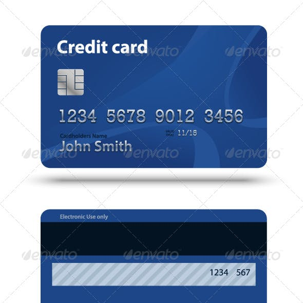 Blue Creadit Card