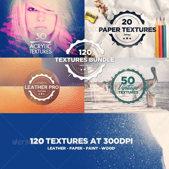 120 Textures Bundle
