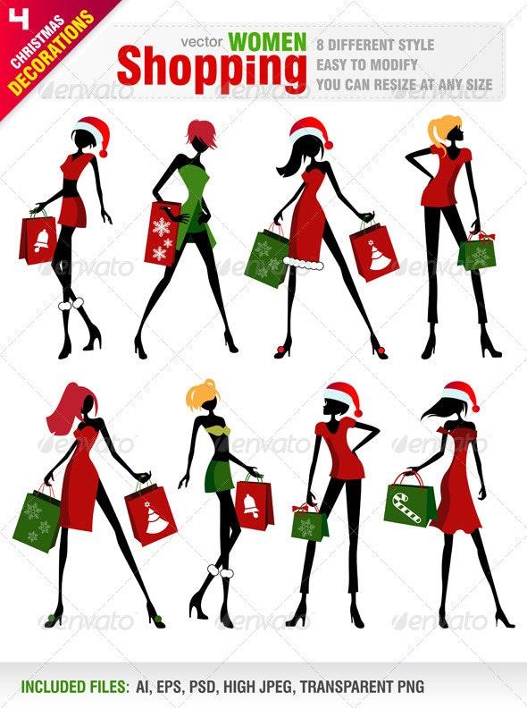 Shopping Women for Christmas  - Commercial / Shopping Conceptual