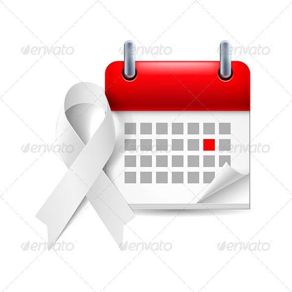 Awareness Ribbon and Calendar - Health/Medicine Conceptual