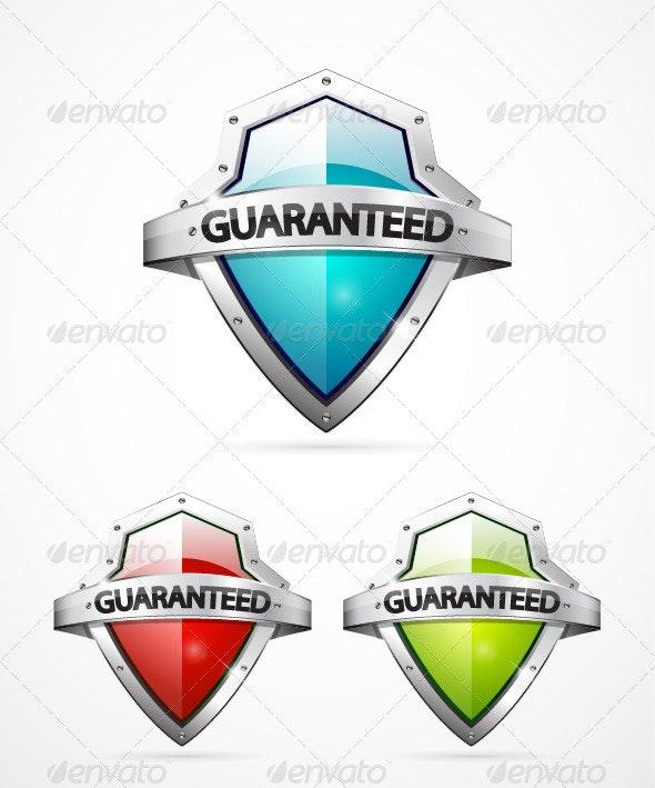 Guaranteed shield - Web Elements Vectors
