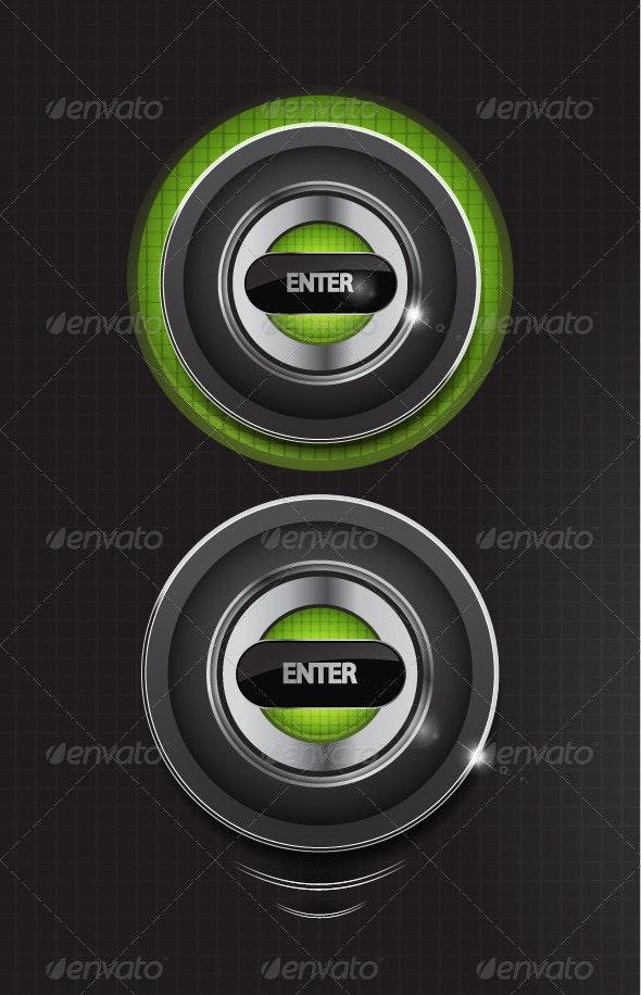 Enter Button - Web Elements Vectors