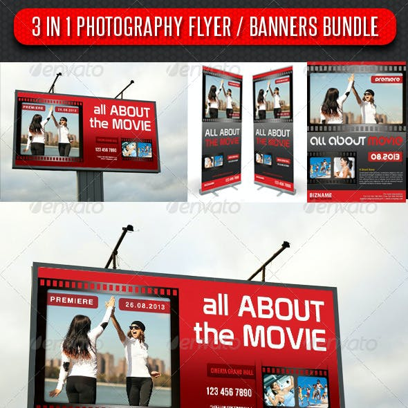 3 in 1 Photography Flyer and Banners Bundle 03
