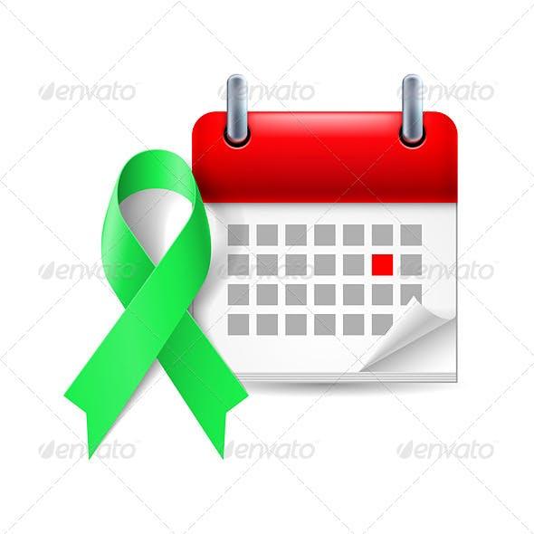Awareness Ribbon and Calendar