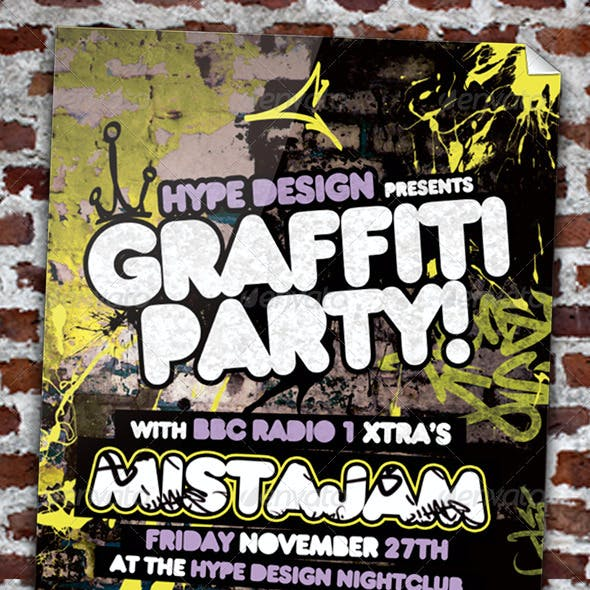Graffiti Party Flyer Template
