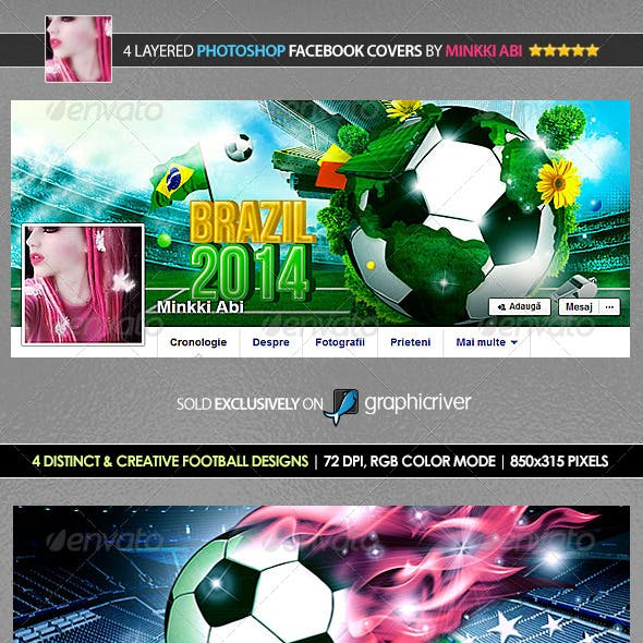 4 Football Facebook Covers