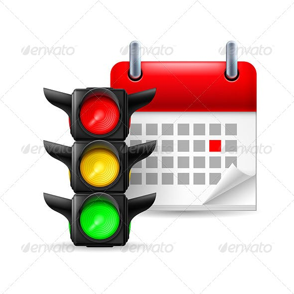 Traffic Lights with Calendar