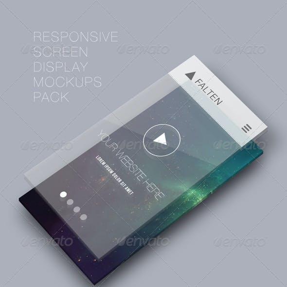 Responsive Screen Display Mockups Pack