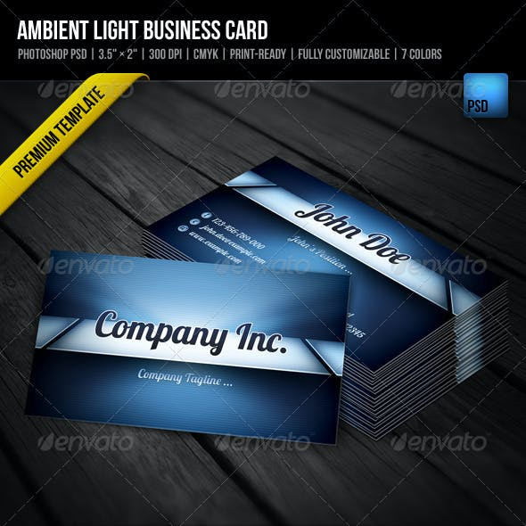Ambient Light Business Card